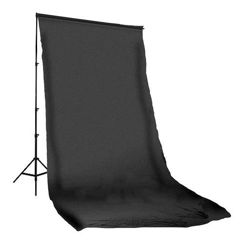 Photoflex Solid Color Series, 10' x 20' Dyed Muslin Background, Solid Black Color. by Photoflex