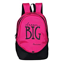 POLE STAR Polyester Big3 38 L Pink and Black Backpack