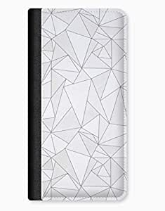 Geometric Triangles Black & White Pattern iPhone 5/5s Leather Flip Case