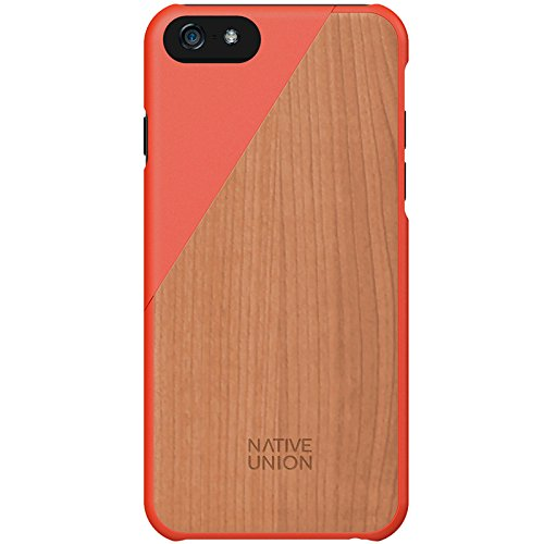 online store f3de7 3fafe Native Union Clic Wooden Case for iPhone 6/6S - Handcrafted Real Wood  Protective Slim Case Cover (Coral)
