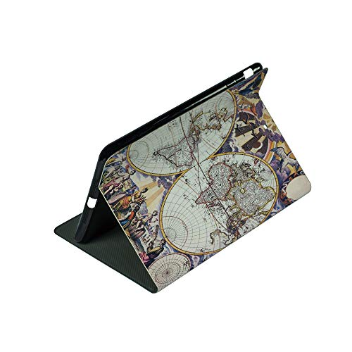 Compatible with 3D Printed iPad 9.7 Case,Map with Farmers Field Sun Birds Clouds Fantasy,Lightweight Anti-Scratch Shell Auto Sleep/Wake, Back Protector Cover iPad 9.7