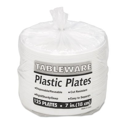 TBL7644WH - Tablemate Plastic Dinnerware (Dinnerware Tablemate Plastic)