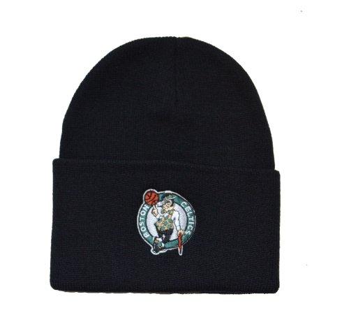 Boston Celtics Black Beanie Hat - NBA Cuffed Knit Toque Cap (Hats Celtics)