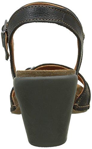 Art Feel, Scarpe col tacco con cinturino a T Donna Nero (Nero (Nero))
