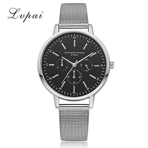 wangqingsong001 Women's Casual Quartz Watches,Mesh Analog Hook Buckle Belt Watch Wrist Watch (C)