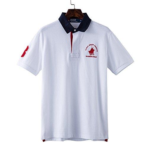 列挙する寛大さナイトスポットMA SHENG POLO ポロシャツ メンズ Tシャツ 半袖 夏 polo t-shirt 無地 ゴルフ 刺繍 快適 薄手 カジュアル PO01