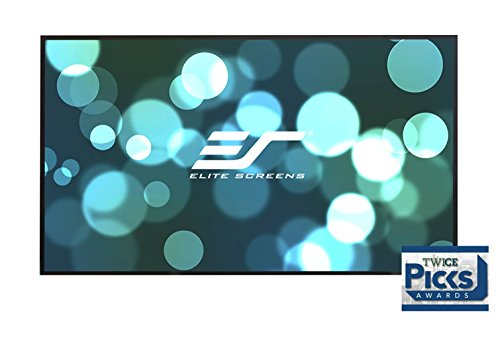 Elite Screens Aeon, 110-inch Diagonal 16:9, 8K 4K Ultra HD Ready Ceiling Light Rejecting and Ambient Light Rejecting EDGE FREE Fixed Frame Projector Screen, CineGrey 5D Projection Material, AR110DHD5