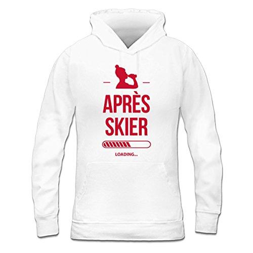 Sudadera con capucha de mujer Après Skier Loading by Shirtcity Blanco