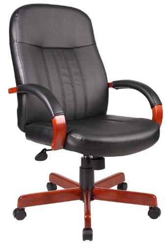 boss-leatherplus-executive-chair-with-oak-finish
