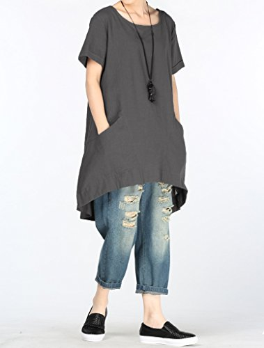 Vogstyle - Camiseta - Una manga - para mujer Gris-foncé