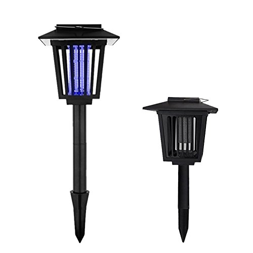 US-PopTrading Solar Powered Mosquito Killer Light, Outdoor Insect Square Mosquito Killer Lawn Lamp LED Dual Modes Best Stinger for Mosquitoes/Moths/Flies