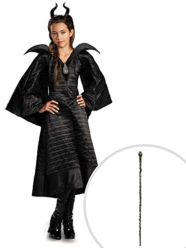 Disney Maleficent: Christening Black Gown Deluxe Child Costume L (10-12) ()