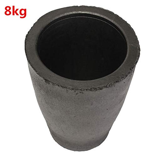 1-16kg Graphite Furnace Casting Foundry Crucible Melting - Mechanical Parts Materials - (8KG) - 1 x Graphite Crucible]()