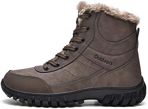 メンズ スノーブーツ 綿靴 登山靴 ウィンターブーツ 防水 防滑 トレッキングシューズ 滑り止め 耐摩耗 裏起毛 超防寒 ハイキングシューズ 厚底 ムートンブーツ 大きいサイズ(25cm-29cm)