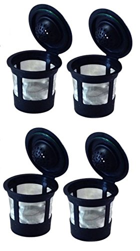 4 Reusable Single K-Cup Solo Filter Pod Coffee Stainless Mesh For Keurig Brewers (4)