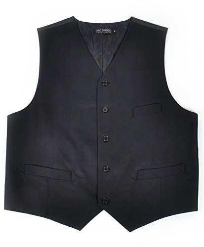 Black Full Back Tuxedo Vest - boxed-gifts Men's Poly Twill Tuxedo Vest Full Back Vest (X-Large, Black)