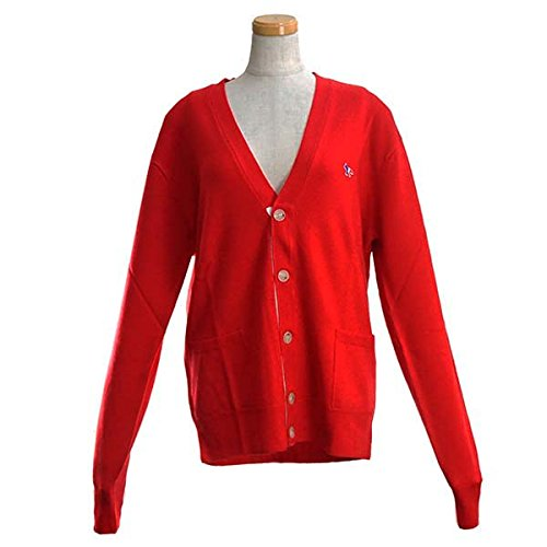 MAISON KITSUNE(メゾンキツネ) カーディガン (レディース) RED FW17U601-RE VIRGIN WOOL CLASSIC CARDIGAN RED_サイズ:L [並行輸入品]