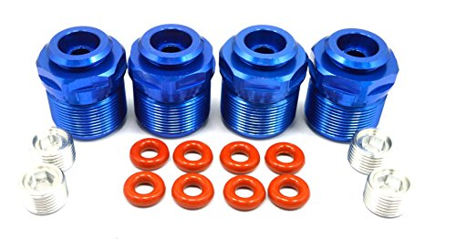 Dhawk Racing Aluminum Shock Lower Caps Blue 4 pcs For Traxxas X-Maxx 77076-4