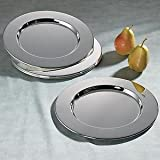 Plain Charger Plates Silver Plated Set Of 12