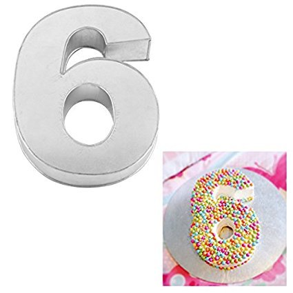 Large Number Six Birthday Wedding Anniversary Cake Tins / Pans / Mould by Falcon 14