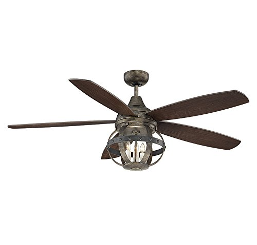 Hunter Baybrook 52 Onyx Bengal Damp Rated Ceiling Fan At: Damp Rated Ceiling Fans With Lights