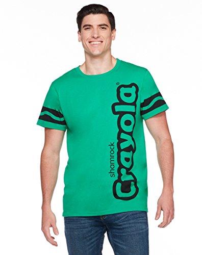 [Spirit Halloween Adult Crayon T-Shirt - Crayola, Shamrock Green,L] (Adult Green Crayon Costumes)