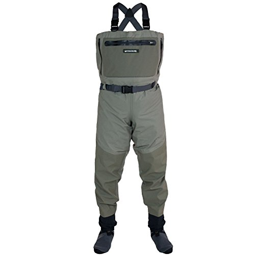 Compass 360 Ledges Breathable STFT Chest Wader, Large