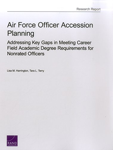 Air Force Officer Accession Planning: Addressing Key Gaps in Meeting Career Field Academic Degree Requirements for Nonrated Officers