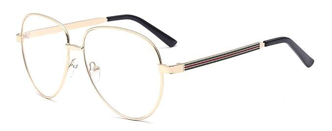 ALWAYSUV Brille Modische Brillen Klar Linsen Brille LhECAkSn