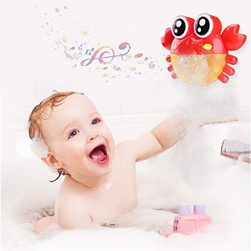 Newl Bubble Crabs Baby Bath Toy Funny Bath Bubble Maker Pool Swimming Bathtub Soap Machine Toys Water Gun for Children -