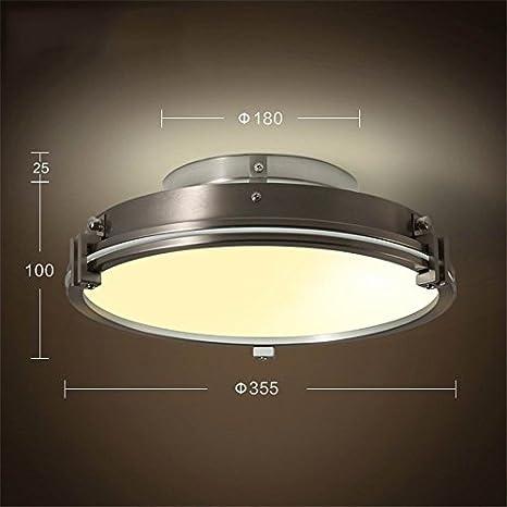 brilife plafón de techo moderna LED luces para iluminación interior plafon LED plafón circular de fijación para salón dormitorio Lamp Aras de techo: ...