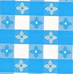 Classic Series Vinyl Tablecloth Check, Blue/White 52