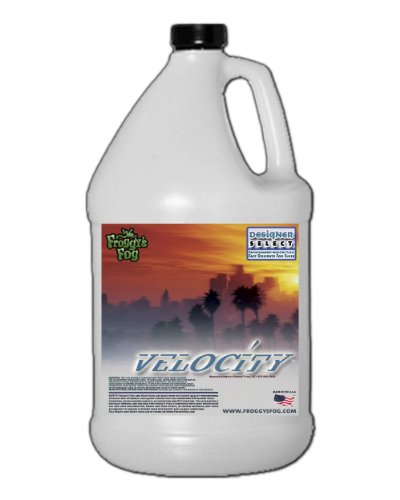 (1 Gal - Velocity - Designer Select Fast Dissipating Fog Machine Fluid)