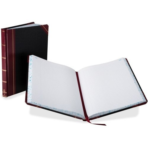 Boorum & Pease 21300R Columnar Book,Record Ruled,300 Pages,10-3/8''x8-1/8,Black by Boorum & Pease