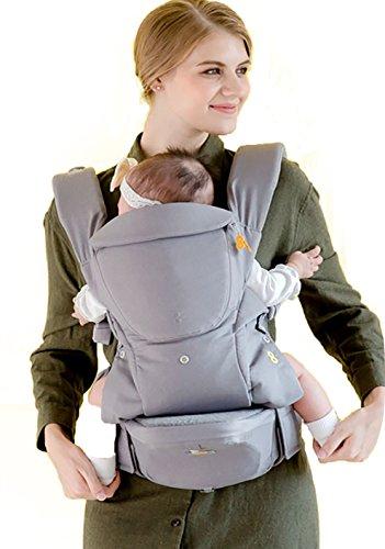 Bebettirang Baby Carrier with Hip seat (Grey) – 2 in 1 Infant Sling Carrier Set, Ergonomic M Shape Design Review