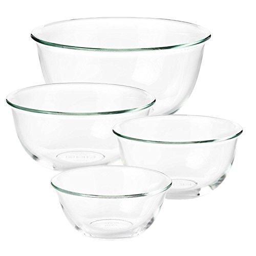 (Good Grips 1 Glass Prep Bowl and 3 Glass Mixing Bowls, 4-pc Set)