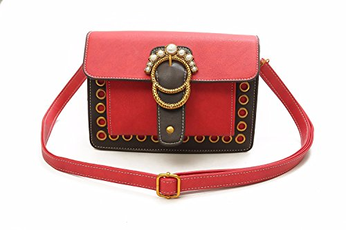 Slant Personality Brown Bag Bag Shoulder Bag pearl Small Single Gules Square Gtvernh Satchel CHwvBxqWvz