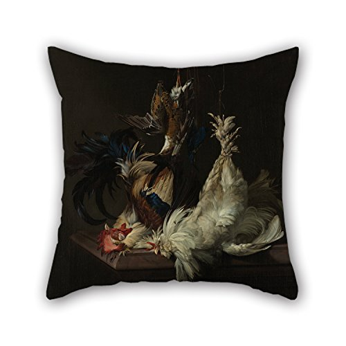 18 X 18 Inch / 45 By 45 Cm Oil Painting Willem Van Aelst - Stilleven Met Gevogelte Pillow Cases,twice Sides Is Fit For Bar,dinning Room,kids Room,kids,bf,study Room - Memphis Lounger