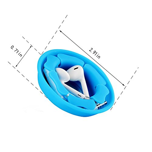 Earbuds Holder Case Earphones Wrap, MAIRUI Soft Silicone