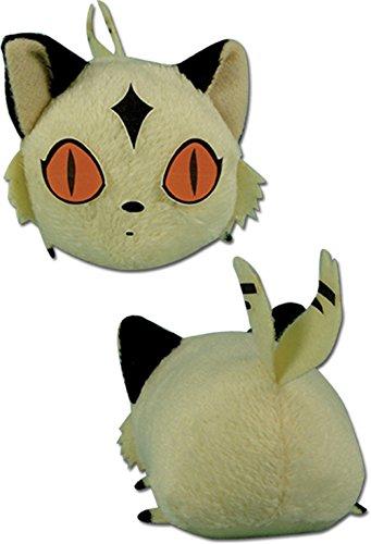 GE Animation Great Eastern Inuyasha Mini-sized Kirara Cat Lying Down Stuffed Plush, 3