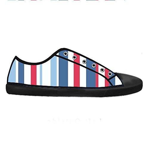 Dalliy Farbstreifen Mens Canvas shoes Schuhe Lace-up High-top Sneakers Segeltuchschuhe Leinwand-Schuh-Turnschuhe C