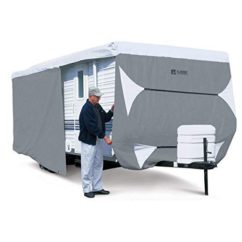 Classic Accessories OverDrive PolyPro 3 Deluxe Travel Trailer Cover, Fits 33' - 35' (Travel 35 Trailer Rv Covers Foot)