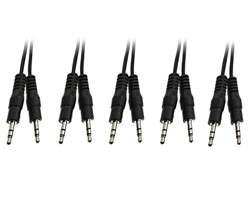 UPC 638170488580, C&E 5 Pack 3.5mm Stereo Cable, Male to Male 6 Feet, CNE488580