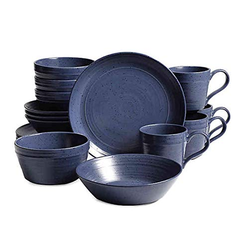 Home Milbrook 16-Piece Dinnerware Set in Blue