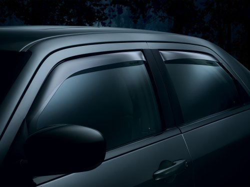 Smoke Front Deflectors - WeatherTech 82736 Window Deflector, Front and Rear, Dark Smoke