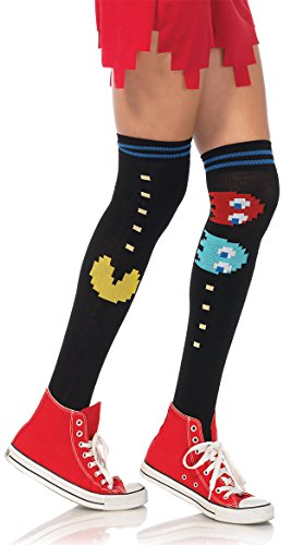 Pac Man And Ghost Knee Socks - Multicolor - One (Pacman Costume Ghost)
