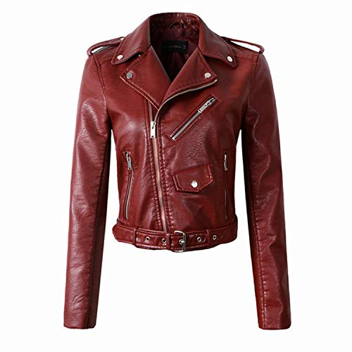 - Heart .Attack jacket Women Jackets Lady Bomber Motorcycle Cool Outerwear Coat Sale,1607 Wine Red,L