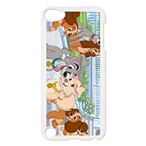 ipod 5 White phone case Classic Style Disney Cartoon Lady and the Tramp II Scamp's Adventure WHD8976758