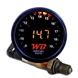"""APSX D2 Digital Wideband O2 Air Fuel Ratio Controller All-in-One 2 1/16"""" (52mm) Gauge (ORANGE)"""