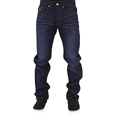 New Rocawear Mens Boys Double R Star Relaxed Fit Hip Hop Jeans DKBlu for sale
